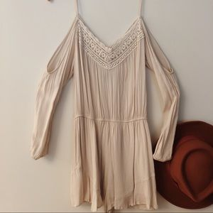 Urban Outfitters Cream Romper